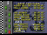 Mario Andretti Racing  Genesis Starting grid.