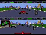Mario Andretti Racing  Genesis Split screen view (nose tip and chase cam).