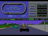 Mario Andretti Racing  Genesis Split screen view (chase cam and track map).