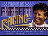 Mario Andretti Racing  Genesis Title screen.