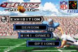 NFL Blitz 20-02 Game Boy Advance Main menu.