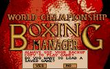 World Championship Boxing Manager Atari ST Title screen