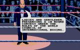 World Championship Boxing Manager Atari ST Our MC sets things up