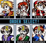 King of Fighters R-2 Neo Geo Pocket Color Order selection.