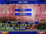 Football Glory DOS Main Menu
