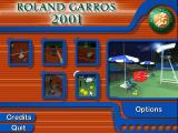 Roland Garros French Open 2001 Windows Title screen