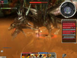 Guild Wars Windows Battling the crystal dragon Glint - one of the hardest enemies in the game.