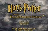 Harry Potter and the Sorcerer's Stone Game Boy Advance Title screen