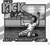 Super Kick Off Game Boy Title Screen