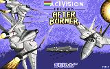After Burner Commodore 64 Title screen (UK version)