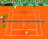 Center Court Tennis Amiga Playing on clay