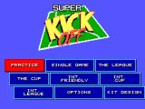 Super Kick Off SEGA Master System Main Menu