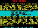 Deep Strike ZX Spectrum Durell's standard anti-piracy message