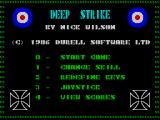 Deep Strike ZX Spectrum Title screen