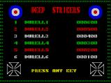 Deep Strike ZX Spectrum High scores
