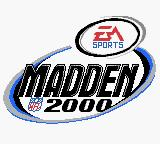 Madden NFL 2000 Game Boy Color Title screen.