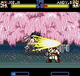 Fatal Fury: First Contact Neo Geo Pocket Color Andy's offensive was suddenly canceled, 'cause Joe's Slash Kick was faster in the hit timing!
