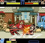 Fatal Fury: First Contact Neo Geo Pocket Color Billy Kane connecting successfully 6 hard-spinning hits in Xiangfei through his Whirlwind Wail move.