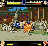 Fatal Fury: First Contact Neo Geo Pocket Color Using his body-spinning move Kuuha Dan, Andy was able to remove a lot more of Kim's energy bar.