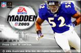 Madden NFL 2005 Game Boy Advance Title screen.