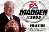 Madden NFL 2003 Game Boy Advance Title screen.