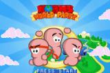 Worms World Party Game Boy Advance Title screen.