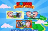 Worms World Party Game Boy Advance Main menu.