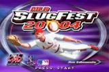 MLB SlugFest 20-04 Game Boy Advance Title screen.