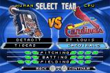 MLB SlugFest 20-04 Game Boy Advance Team selection.