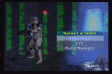 Star Wars: Battlefront II PlayStation 2 Team selection screen. On instant action or multiplayer type games you can decide which side you'd like to be on.
