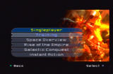 Star Wars: Battlefront II PlayStation 2 The singleplayer menu, showing the different types of game play available to you.
