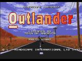 Outlander Genesis Title Screen.