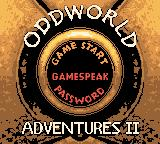 Oddworld Adventures 2 Game Boy Color Main menu