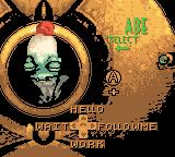 Oddworld Adventures 2 Game Boy Color Gamespeak screen