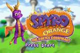 Spyro Orange: The Cortex Conspiracy Game Boy Advance Title screen.