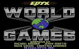World Games Commodore 64 Title screen