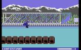 World Games Commodore 64 Barrel Jumping - make sure to time your jump well...