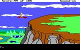 King's Quest II: Romancing the Throne DOS Flying on a magic carpet