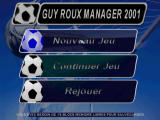 Alex Ferguson's Player Manager 2001 PlayStation Main game screen (French version)