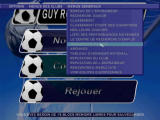Alex Ferguson's Player Manager 2001 PlayStation Most of the game is controlled through PC-like menus that are unusual for console games (French version).