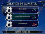 Alex Ferguson's Player Manager 2001 PlayStation Club, Calender and Finances generation screen (French version)