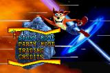 Crash Bandicoot Purple: Ripto's Rampage Game Boy Advance Main menu.