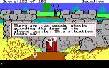 King's Quest II: Romancing the Throne DOS The castle entrance is well guarded!