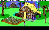 King's Quest III: To Heir is Human DOS Family bear going out for a walk