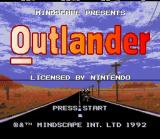 Outlander SNES Title Screen.