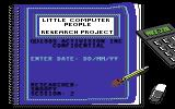 Little Computer People Commodore 64 Beginning another session