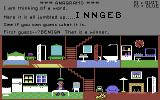 Little Computer People Commodore 64 Playing Anagrams