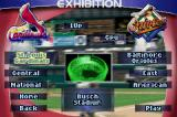 High Heat Major League Baseball 2003 Game Boy Advance Team selection.