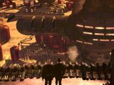 Emperor: Battle for Dune Windows Sardaukar army, prepping to embark for Dune.