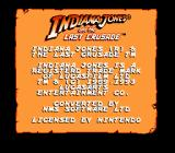Indiana Jones and the Last Crusade: The Action Game NES Title Screen.